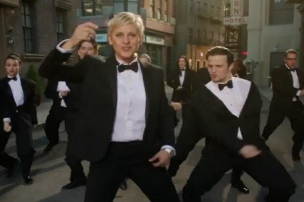 Ellen DeGeneres Gets All Tuxed Up in First Oscars Promo (Video)