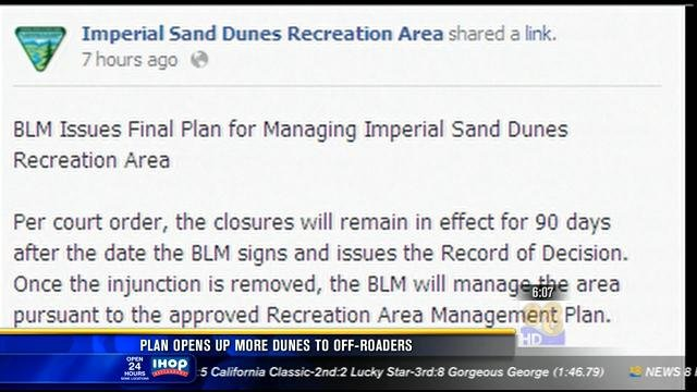 Plan opens up more dunes to off-roaders