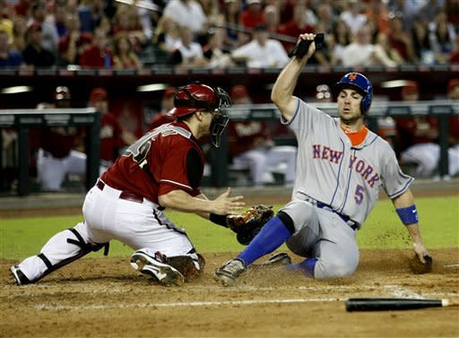 Dickey gets 14th win as Mets beat Diamondbacks 5-1