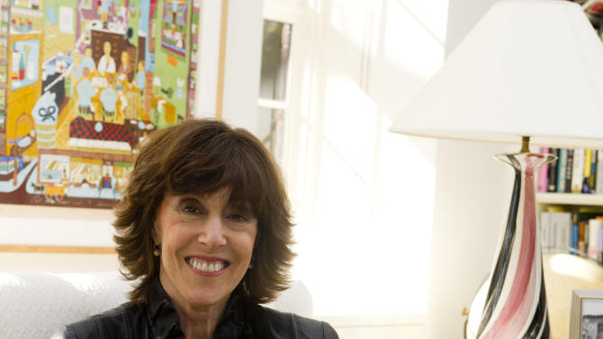 Nora Ephron poses for a photo at her home in New York, Wednesday, Nov. 3, 2010. Ephron, 71, essayist, author and filmmaker who thrived in the male-dominated worlds of movies and journalism and was loved, respected and feared for her wit died June 26, 2012.  (AP Photo/Charles Sykes)