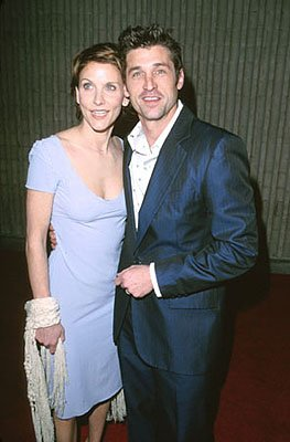 Premiere: Patrick Dempsey with his wife at the premiere for Dimension's Scream 3 - 2/3/2000
