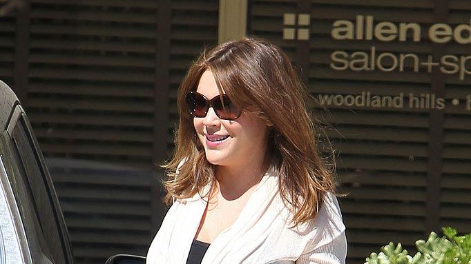 Alyssa Milano L Eaves Hair Salon