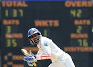 Tillakaratne Dilshan scored his first Test century in a year and Kumar Sangakkara hammered a century as Sri Lanka walloped Pakistan on the opening day in Galle