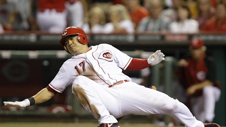 Ludwick homers, Reds beat Brewers 6-3
