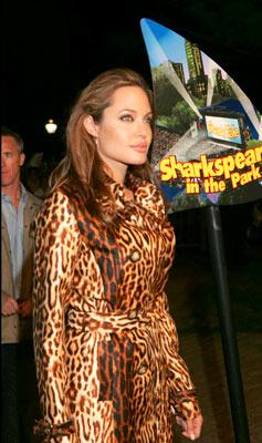 Angelina Jolie at the New York premiere of Dreamworks' Shark Tale