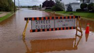 Flooding in Truro closed many some streets and breached dikes.