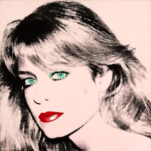 """This photo released by courtesy of the Blanton Museum of Art shows Andy Warhol's painting of """"Farrah Fawcett,"""" 1980. The painting was bequeathed by Fawcett to the University of Texas at Austin in 2010. The university sued Oscar-nominated actor Ryan O'Neal to gain possession of a second Fawcett portrait done by Warhol and the case went to trial in Los Angeles in late 2013.(AP Photo/Blanton Museum of Art, Copyright The Andy Warhol Foundation for the Visual Arts) **MANDATORY PHOTO CREDIT**"""