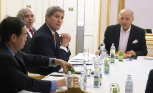 US Secretary of State John Kerry, second right, US…