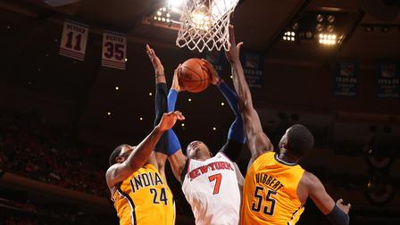 Pacers beat Knicks 102-95 in Game 1