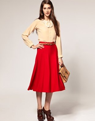 Swinging Midi Skirt, $26.86