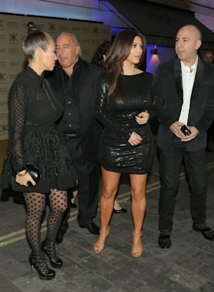 Kim & Kourtney Kardashian Launch Their UK Kardashian Kollection In Black Mini Dresses