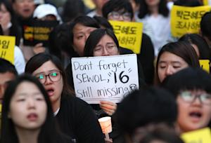 Memorial for South Korean ferry victims