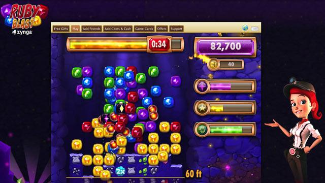 Zynga's Ruby Blast Arcade Game Hits Facebook
