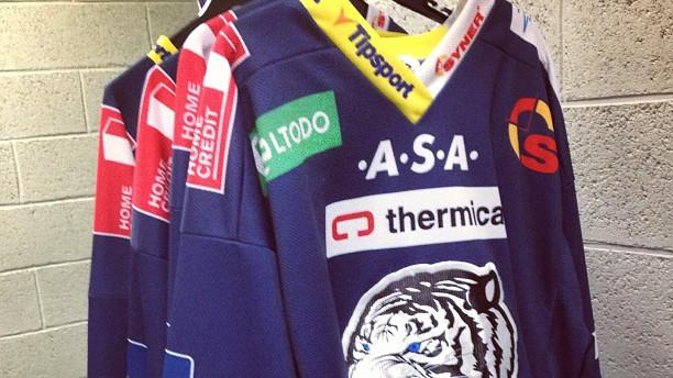 Jerseys for Czech League's Liberec White Tigers (#NickInEurope)