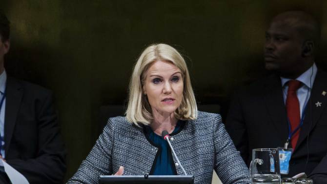 Helle Thorning Schmidt, Prime Minister of Denmark, speaks during the Climate Summit at United Nations headquarters in New York