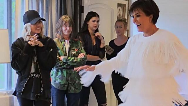 Watch Kris Jenner Try on an Array of Glamorous Dresses for Her 60th Birthday With Kim Kardashian