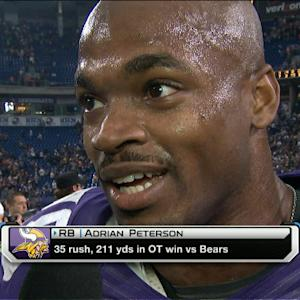 Minnesota Vikings running back Adrian Peterson on big game: 'Just another day'