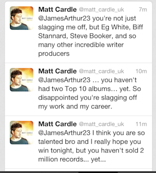 Matt Cardle Hits Back At X Factor's James Arthur In Twitter Rant: 'You Haven't Sold Two Million Records'
