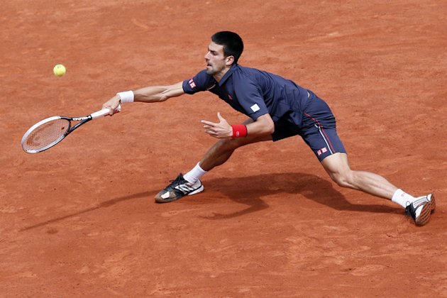 Serbia's Novak Djokovic Hits AFP/Getty Images