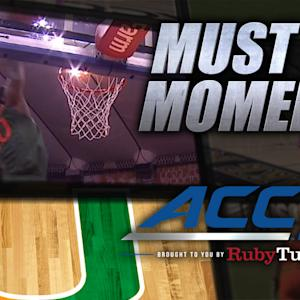 Miami's Sheldon McClellan Nasty Alley-Oop Dunk | ACC Must See Moment