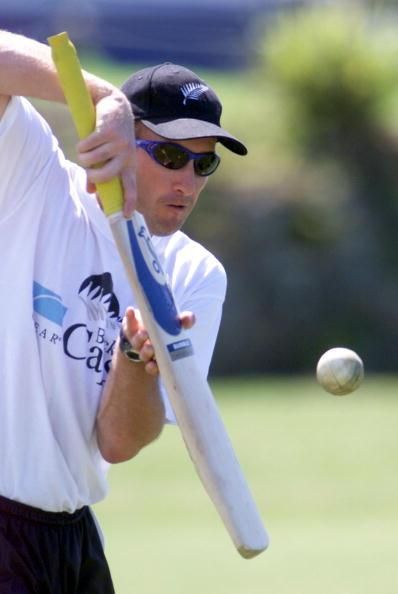 Chris Harris in action during the Black Caps train