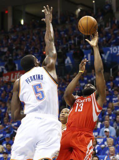 Thunder blast Rockets 120-91 in Game 1