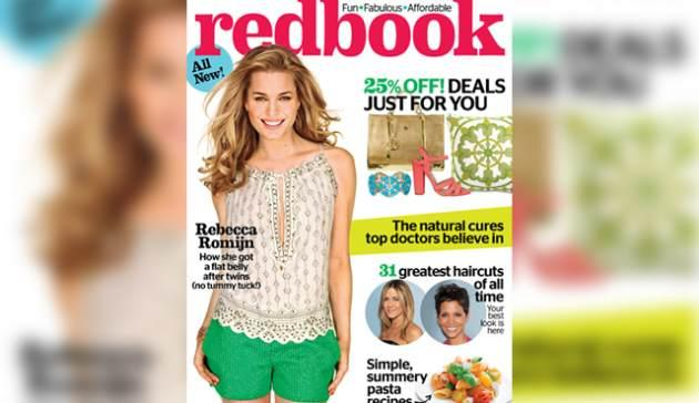 Rebecca Romjin on the cover of Redbook magazine's August 2013 issue -- Ruven Afanador for REDBOOK