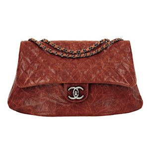 Brown quilted bag by Chanel