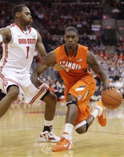 No. 8 Buckeyes rebound, beat Illinois 83-67