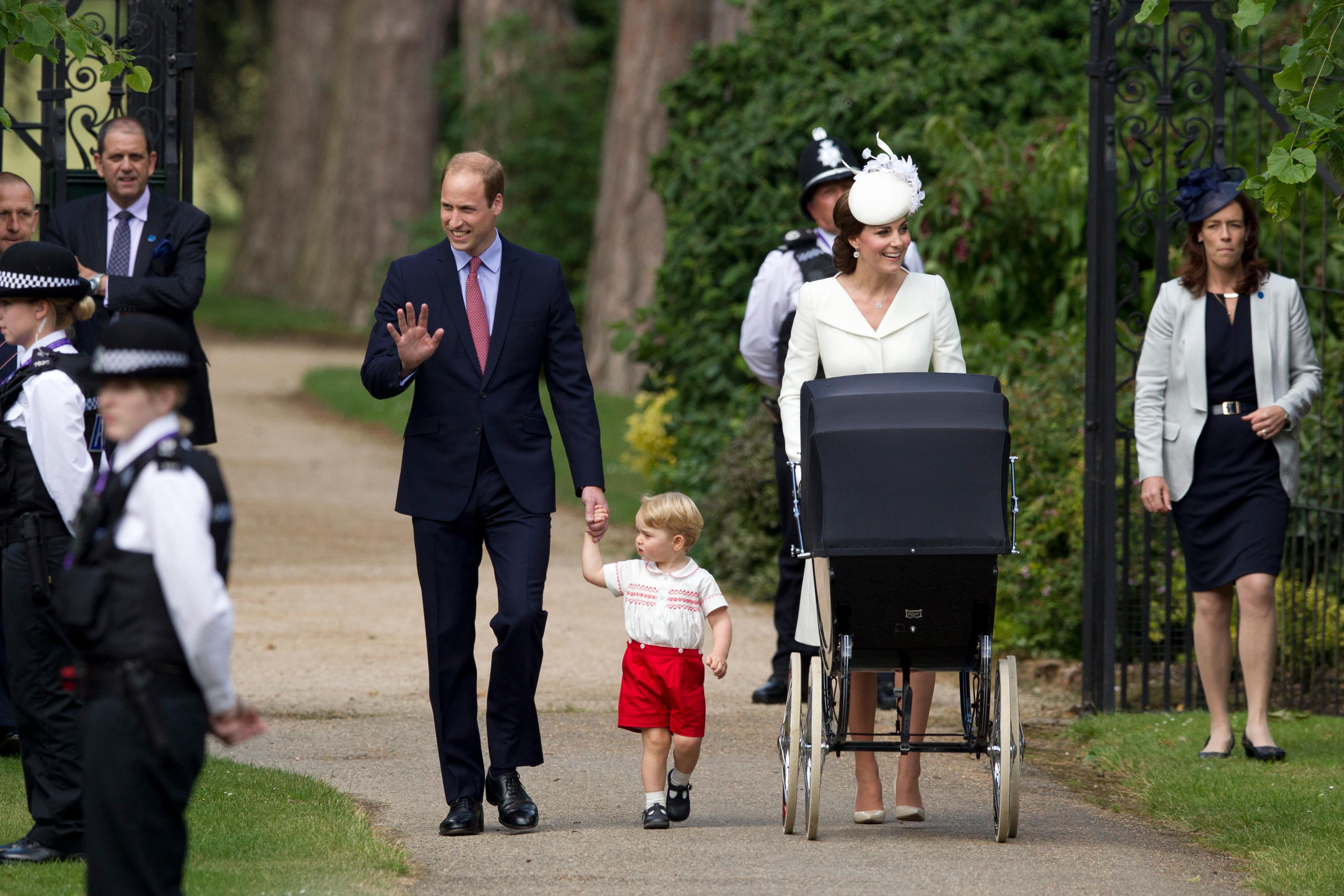 Kate Middleton Gives Princess Charlotte a Royal Stroller Ride to Christening