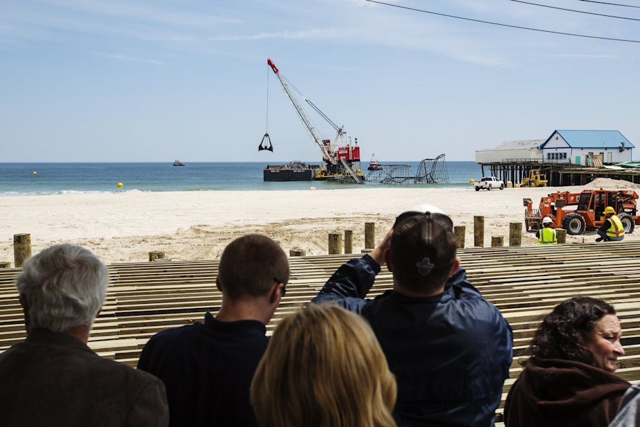Seaside heights roller coaster demolished