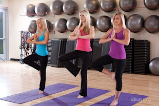 Blonde Girls Doing Yoga Poses -7936