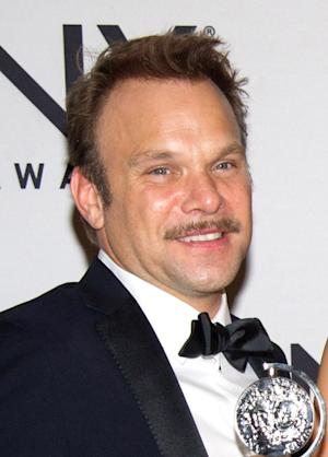 "FILE - In this June 12, 2011 file photo, Norbert Leo Butz appears backstage at the 65th Annual Tony Awards in New York. Butz will join actress Katie Holmes in the Broadway comedy ""Dead Accounts"" beginning previews on Saturday, Nov. 3 and opening Wednesday, November 28 at the Music Box Theatre in New York. (AP Photo/Charles Sykes, file)"