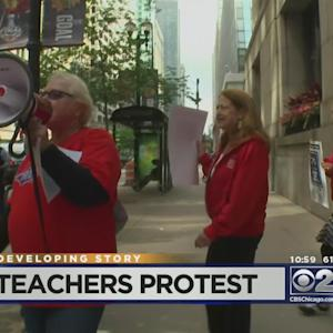 Teachers Protest CPS Budget Cuts, Layoffs