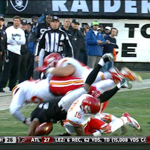Kansas City Chiefs safety Husain Abdullah fumble recovery