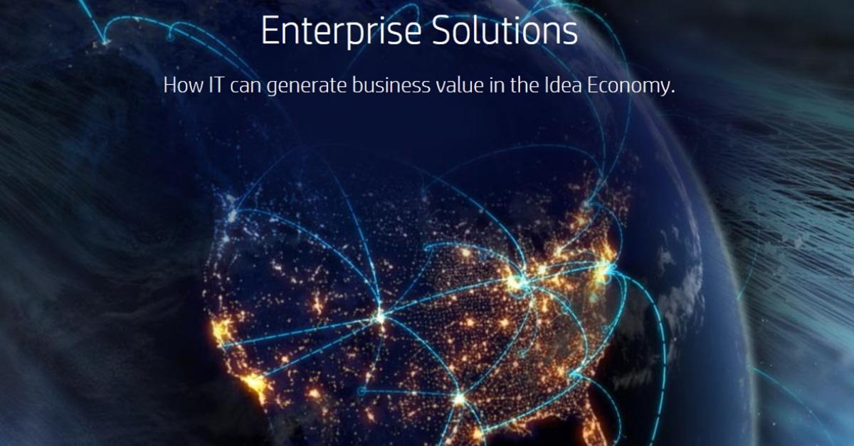 Generate Business Value In The Idea Economy w/ HP