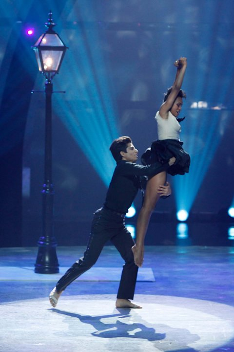"Alexander Fost and Sasha Mallory perform a Jazz routine to ""That's Life,"" choreographed by Tyce Diorio on ""So You Think You Can Dance."""