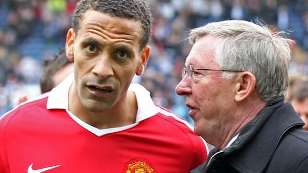 Alex Ferguson and Rio Ferdinand of Manchester United (Reuters)
