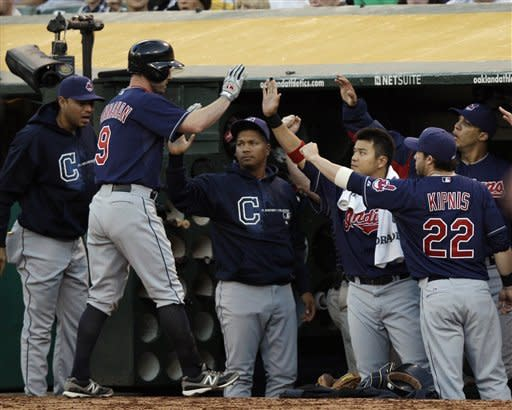 Hannahan drives in 3 in Indians' 4-3 win