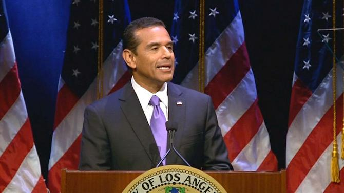 Los Angeles Mayor Antonio Villaraigosa delivers final State of City address