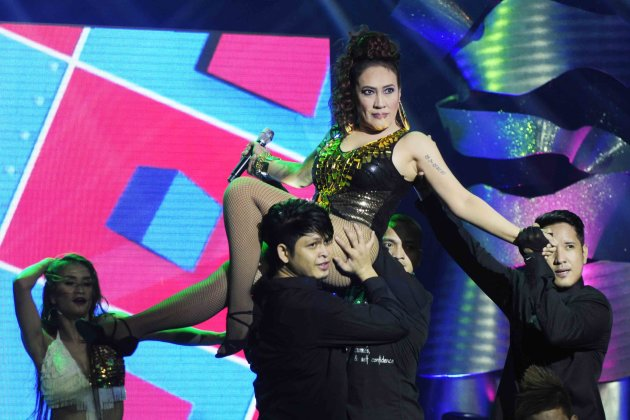 Ai-Ai Delas Alas performs a song and dance number during the 26th Star Awards for TV held at the Henry Lee Irwin Theater in Ateneo De Manila University on 18 November 2012. (Angela Galia/NPPA images)