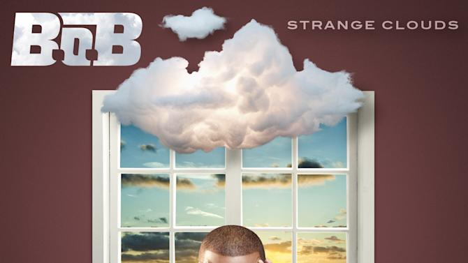 """In this CD cover image released by Grand Hustle/Atlantic Records, the latest release by B.o.B., """"""""Strange Clouds,"""" is shown. (AP Photo/Grand Hustle/Atlantic Records)"""