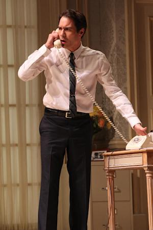 """In this undated theater image released by Jeffrey Richards & Associates, Eric McCormack is shown in a scene from the Broadway revival of Gore Vidal's """"The Best Man,"""" in New York. (AP Photo/Jeffrey Richards Associates, Joan Marcus)"""