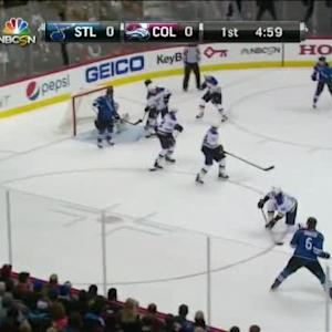 Erik Johnson Goal on Jake Allen (15:02/1st)