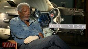 'Oblivion's' Morgan Freeman, Olga Kurylenko on Nostalgia and Saving the Earth (Video)