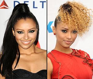 Kat Graham Debuts Blonde Hair, Extreme Dark Roots