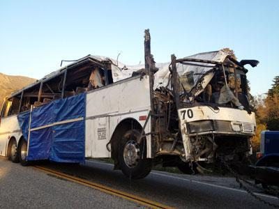 Brakes to Be Examined in Calif. Tour Bus Crash