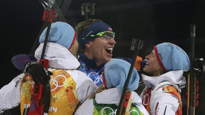 Bjoerndalen sets record with Norway's relay win
