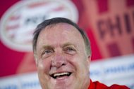 PSV Eindhoven's new coach Dick Advocaat, seen here during a press conference in Eindhoven, on August 1. Advocaat, 64, is the most high-profile of the top-ranking coaches after returning to league title favourites PSV Eindhoven after taking Russia to Euro 2012, only to see them crash out at the group stage