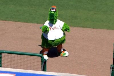 Mean Miguel Cabrera stole the Phillie Phanatic's keys